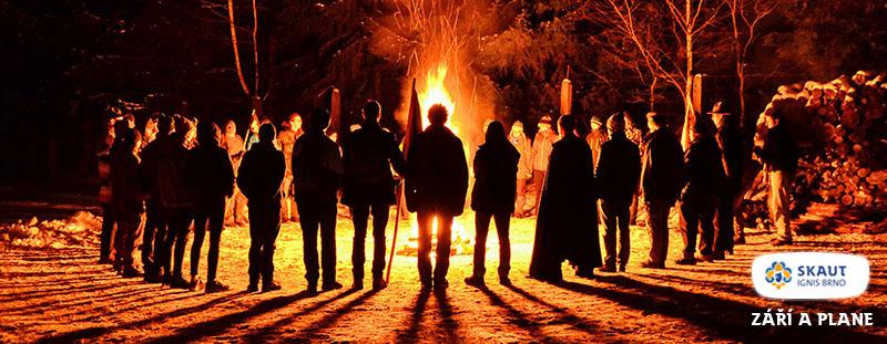 Výsledek obrázku pro slavnostní skautský oheň